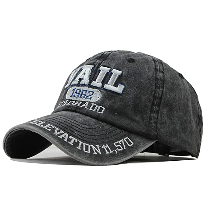 b7bf7a91 TokLask New Washed Cotton Baseball Cap 2019 Hat for Men Women Dad ...