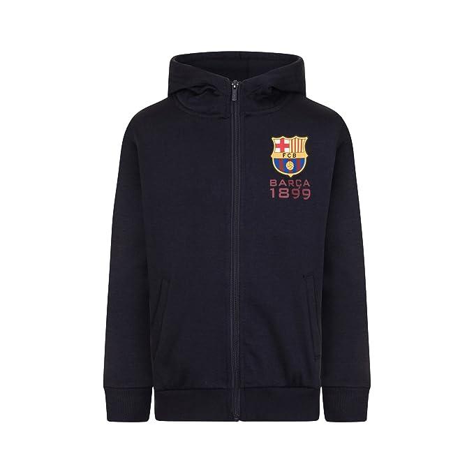 FC Barcelona - Sudadera oficial con capucha y cierre de cremallera - Para niño - Forro polar: Amazon.es: Ropa y accesorios