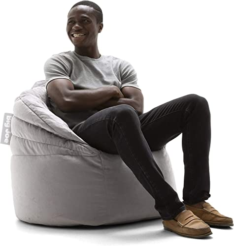 Big Joe Stack Chair, Stone Plush Bean Bag