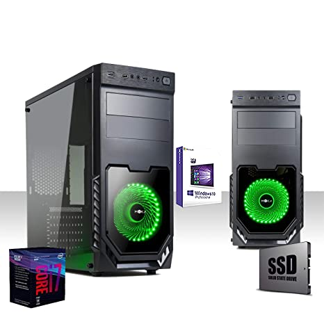 Pc Gaming Desktop Intel I7-8700 8ta generación 4.3 GHZ SIX-CORE, Ssd 480gb / Ram 16gb Ddr4 2400Mhz, Windows10 Pro 64 Bit, Wifi 300 Mbps, Edición, ...