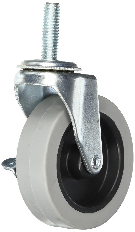 Quantum Storage Systems WR 3 4 Piece 3 Diameter Polyurethane Wheel Swivel Caster Set with Brakes 200 lbs Capacity