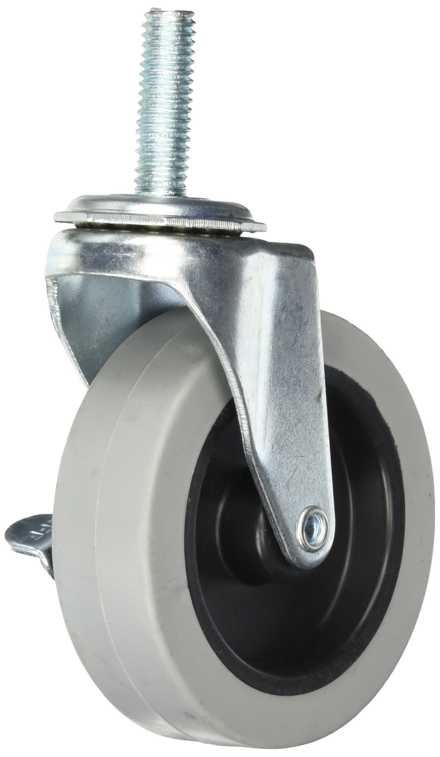 Quantum Storage Systems WR-3 4 Piece 3'' Diameter Polyurethane Wheel Swivel Caster Set with Brakes, 200 lbs Capacity