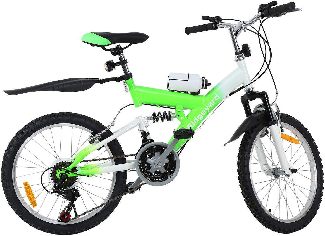 MuGuang Bicicleta de Montaña 20 Pulgadas Bicicleta Infantil 21 ...