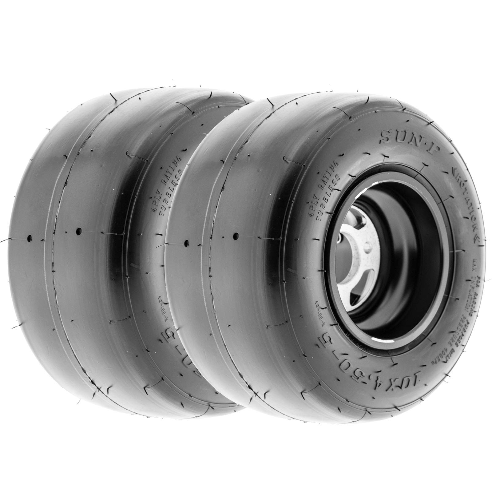 SunF 10x4.5.00-5 4 Ply ATV UTV A/T Tires K001, [Set pair of 2]
