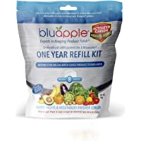 Bluapple One Year Refill Kit with Activated Carbon Keeps Produce Fresher Longer and Absorbs Odors for Fresh Fruits and…