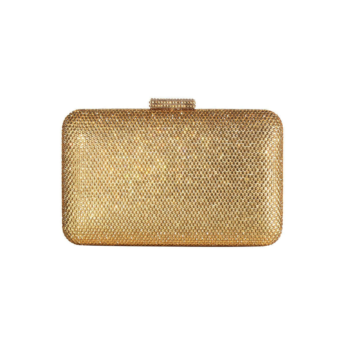 DMIX Womens Large Crystal Clutch for Wedding Bridal Party Prom Evening Bag Gold