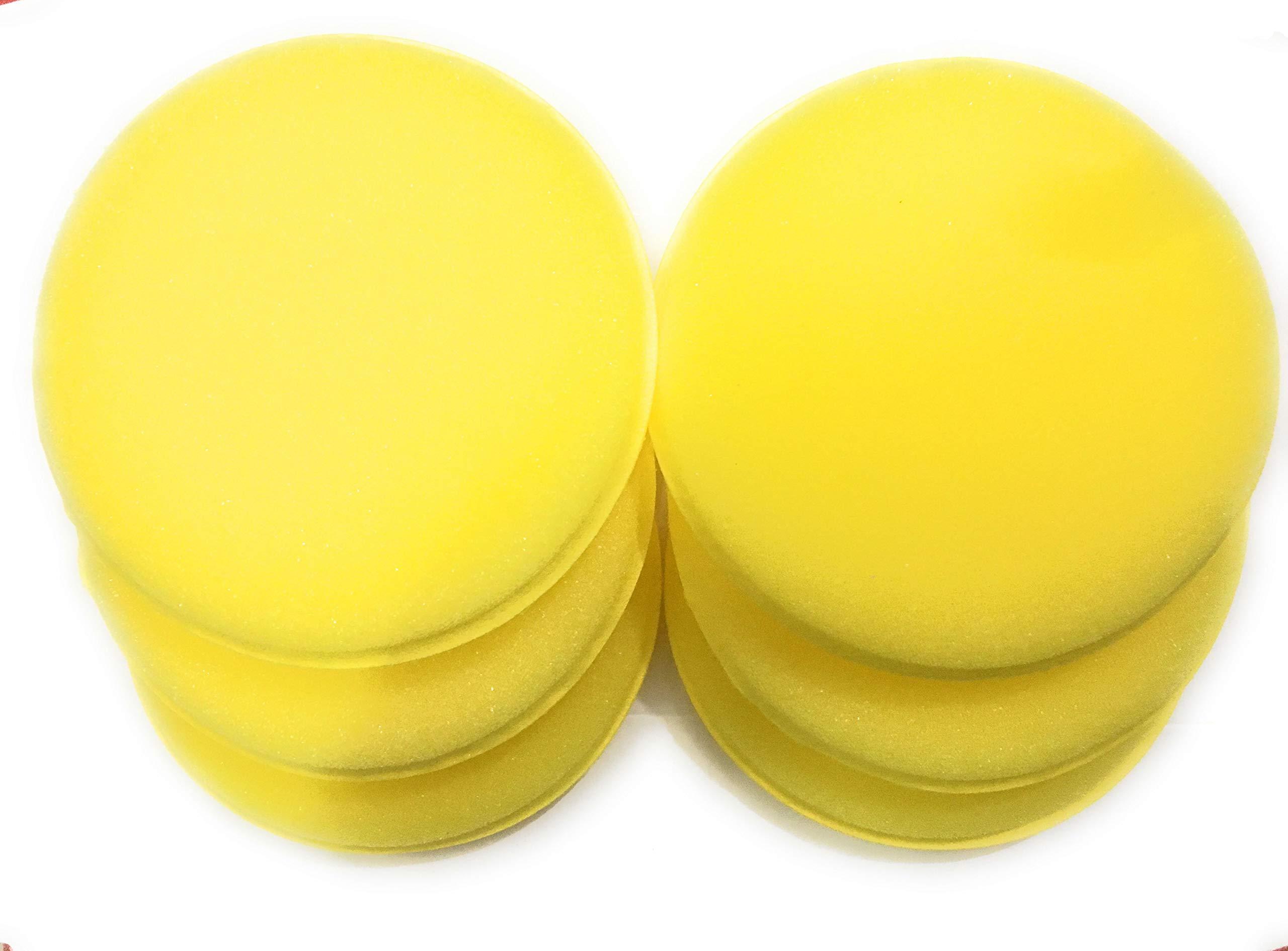 Car Care Microfiber Applicator Pads - Yellow - 6 Pack
