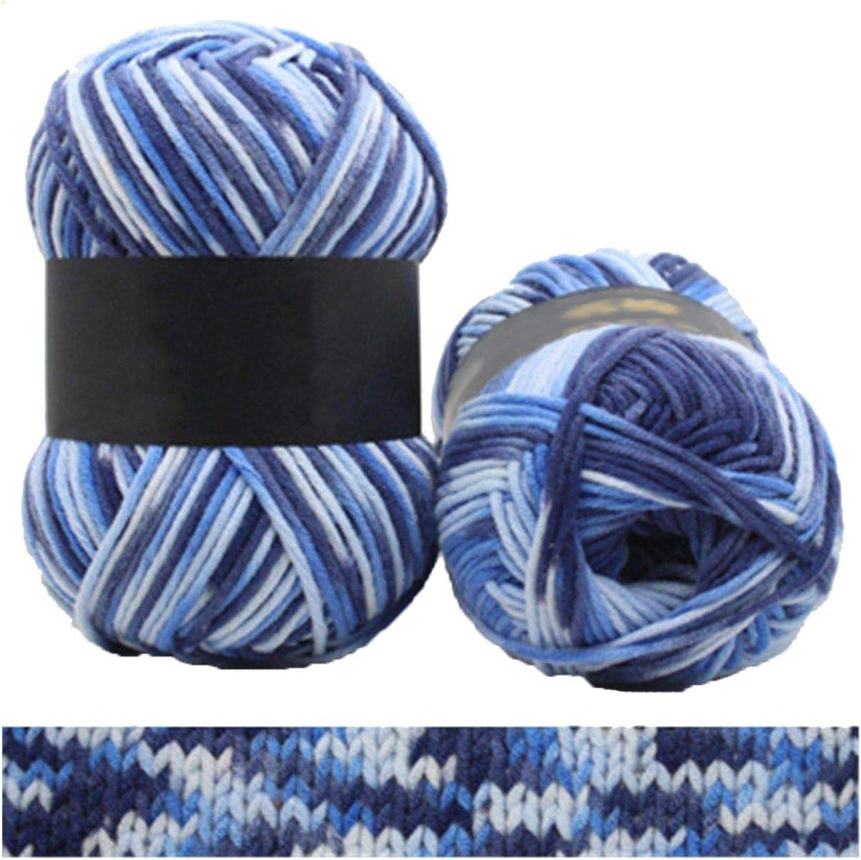 1 ovillo de hilo de algodón de 100 g para tejer, algodón, N3 ...
