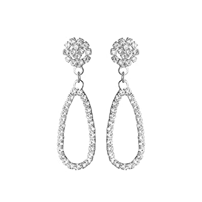 96e3c94f5 Buy Shining Jewel Elegant Silver Plated Crystal CZ American Diamond Dangle  Drop Designer Earrings for Women, Girls (SJ_1124) Online at Low Prices in  India ...