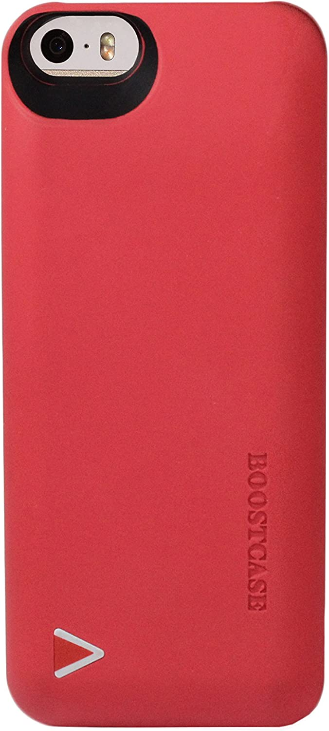 iPhone 5S Battery Case, iPhone 5 Battery Case - Boostcase Detachable Battery Case for iPhone SE [MFI Certified] [Red]