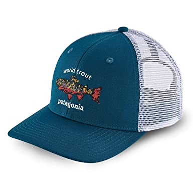 Patagonia Gorra Trucker World Trout Brook Azul - Ajustable: Amazon.es: Ropa y accesorios