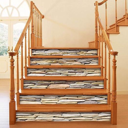 TZQT Escaleras Pegatinas Autoadhesivas Impermeables Desmontables DIY Pegatinas De Pared Dormitorio Decoración del Hogar,A-100cm*18cm: Amazon.es: Hogar