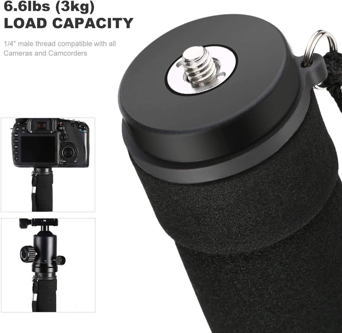 "Camera Monopod, K&F Concept 4-Section 67""/171CM Compact Portable Travel DSLR Monopod Unipod Stand Walking Trekking Stick Aluminum Alloy Lightweight SLR Cameras Canon Nikon Sony Camcorder Video : Camera & Photo"