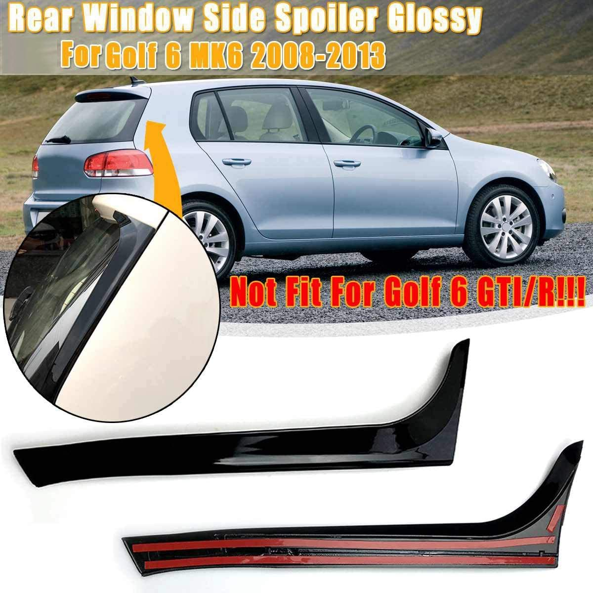 Semoic Gloss Black Rear Side Wing Spoiler Stickers Trim Cover for 6 MK6 2008-2013 Not for 6 //R