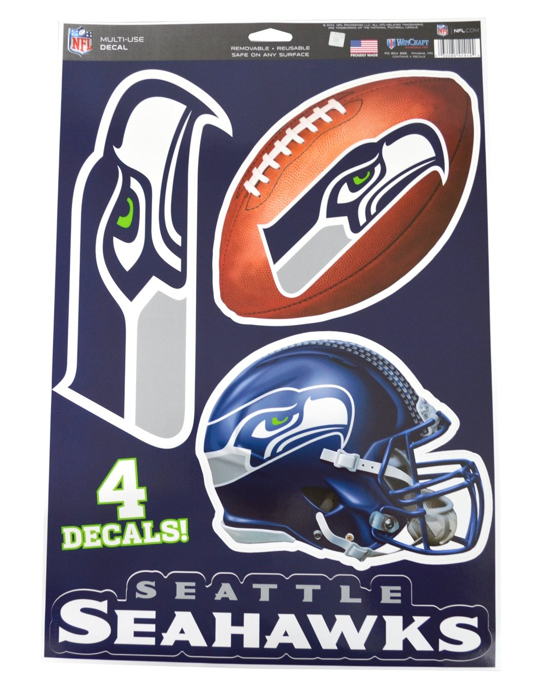 5f6bc6d7 Official National Football League Fan Shop Licensed NFL Shop Multi-use  Decals (Seattle Seahawks)