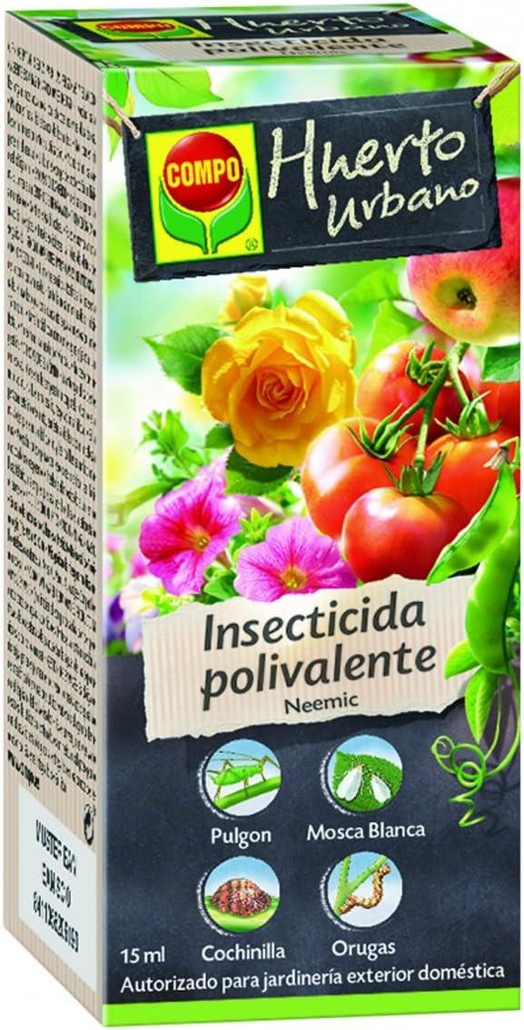 Compo Neemic Insecticida Polivalente, para Plantas Ornamentales, frutales y hortícolas, Control de plagas, jardinería Exterior doméstica, Apto para Agricultura ecológica, Monodosis (15 ml), 9x4x4 cm