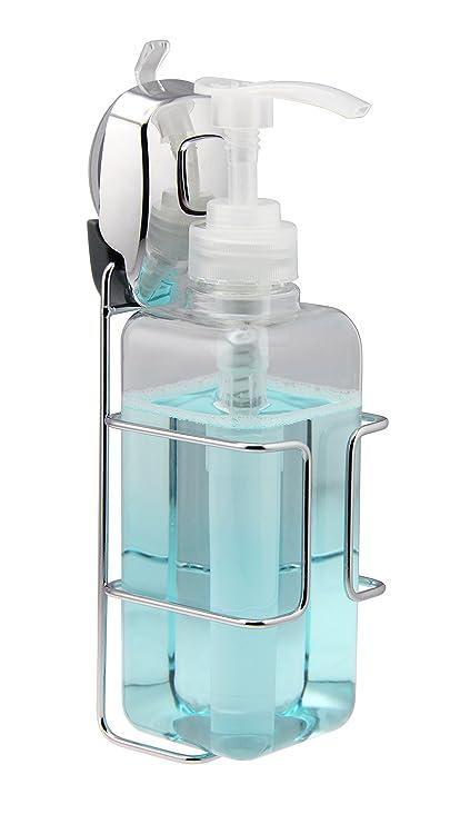 Jabón/dispensador de champú – Smart Ventosa montado en la pared cromado colgador – 500