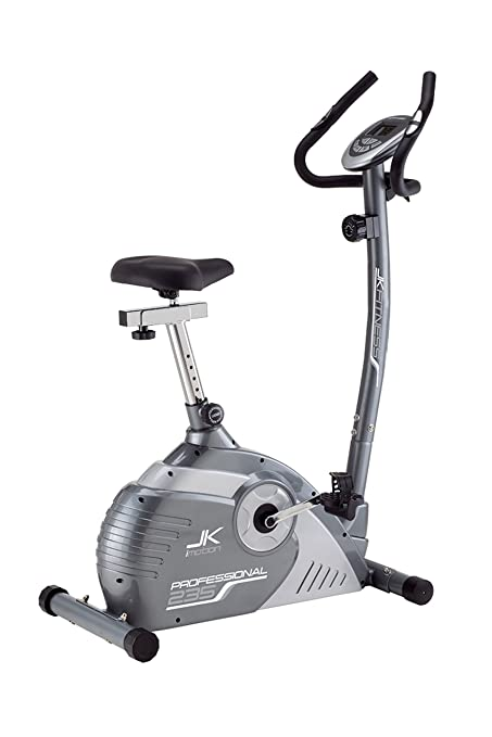 2 opinioni per JK Fitness Professional JK235 Cyclette Magnetica, Grigio/Argento
