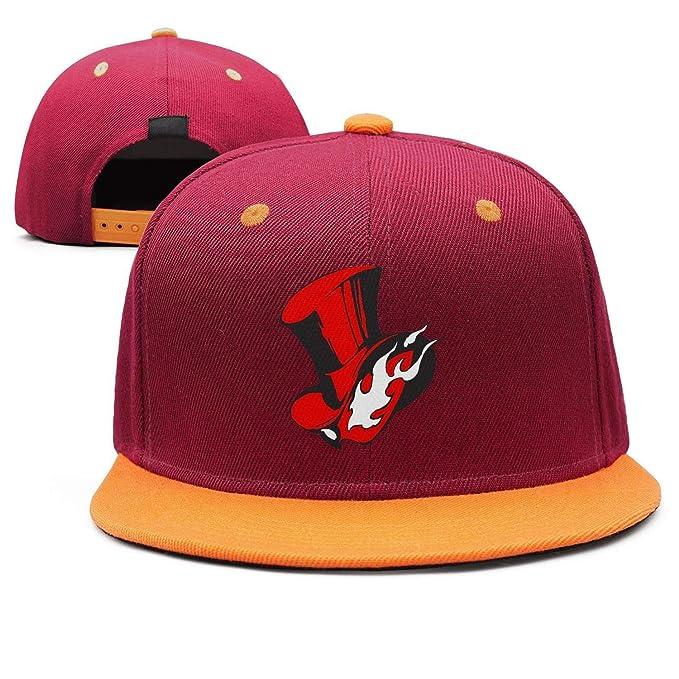 Persona-5- Flat Bill Adjustable Hat Snap Snapback Cap Men   Women ... d73ba8e0d9d