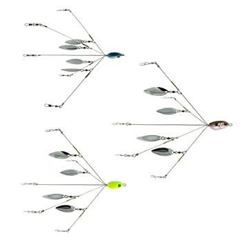 SF 5 Arms Alabama Umbrella Rigs with Blades for Fishing Bass Lures Bait Kit U...
