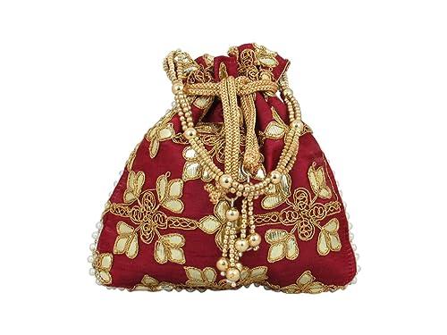 Amazon.com: GoldGiftIdeas Bolsas indias de novia con diseño ...