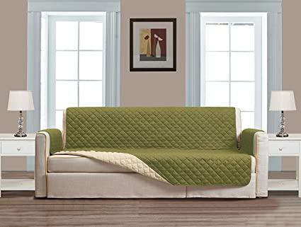 Reversible Couch Cover 110 quot  X 76 quot -Furniture Protector for Pets d7bca371a7fd