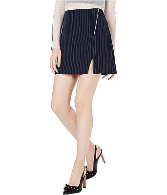 Project 28 Mini Falda a Rayas para Mujer - Azul - Medium: Amazon ...