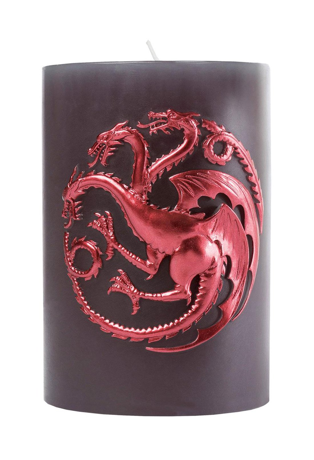 Game of Thrones Candle - Large House Targaryen Insignia Sculpted Pillar Candle - Reusable With 80 Hour Burn Time - Perfect Gift for the GoT Fan - Unscented - 6''