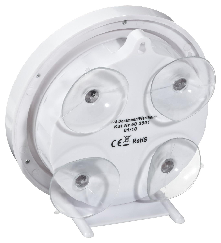 Amazon.de: TFA Dostmann TFA 60.3501 Funk Badezimmeruhr Mit  Temperaturanzeige Funkuhr Mit Höchster