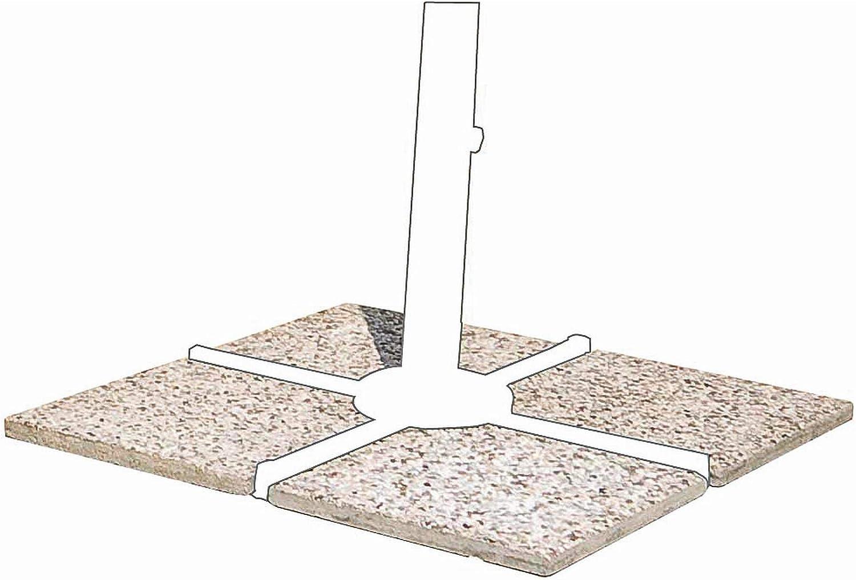 ARREDinITALY Set 4 marmette per Base ombrellone da 50x50 cm in Cemento