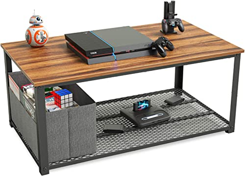 CubiCubi Wood Modern Coffee Table Cocktail Table