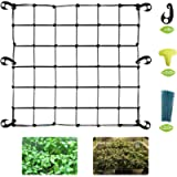 Stretchy Trellis Netting Plant Grow Net Flexible Grow Tent Net for 3x3 4x4 5x5 4x2 and More Size Grow Tents (Single 6…