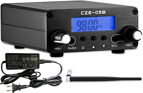 APROTII 7W MP3 Broadcast Radio Station for Church Parking Lot Fcc Certified FM Transmitter for Church FM Transmitter Long Range Broadcast with Microphone,76~108MHz FM Broadcast Transmitter