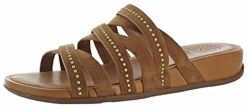 8e6948bce109b6 FitFlop Women s Lumy Leather Slide Sandals Shoes Tan Size 5