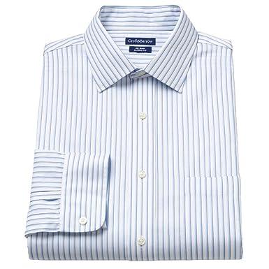 194c98d5a Croft & Barrow Men's Classic Fit 100% Cotton No Iron Dress Shirt Striped (15