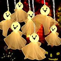 Cadena de Luces Halloween, Fantasma Guirnalda Luces 30 LED, Luces de hadas de Pilas, Impermeable Luces de Fantasma para…