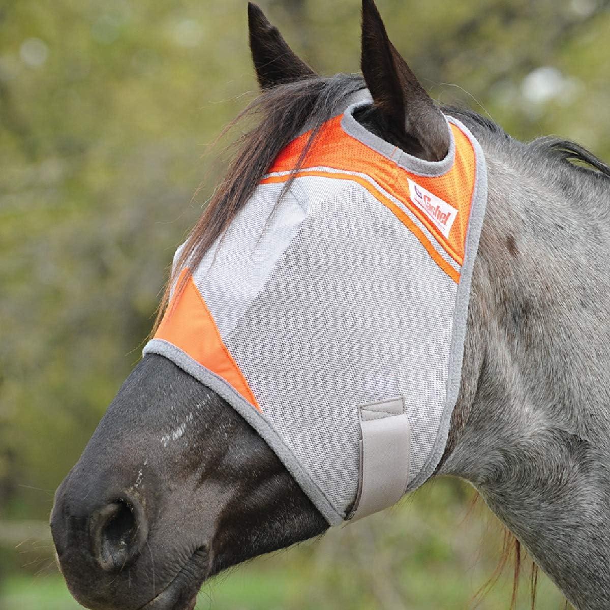 Crusader Orange Fly Mask Cashel UV-Schutz Gr Warmblood