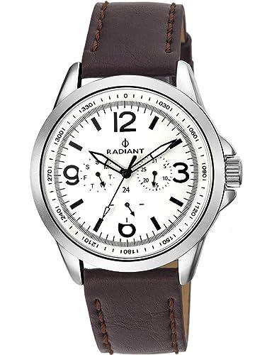 Radiant Reloj Cronógrafo para Hombre de Cuarzo con Correa en Cuero RA413702: Amazon.es: Relojes