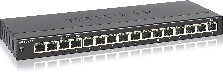 NETGEAR 16-Port Gigabit Ethernet Switch (GS316) $44.99 Coupon
