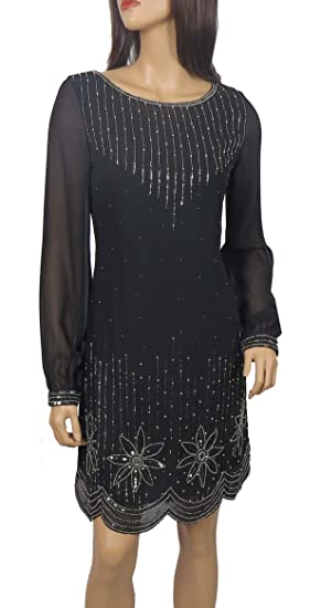 New Women 1920/'s Gatsby fully embellished shift dress from size 8 to PLUS SIZES