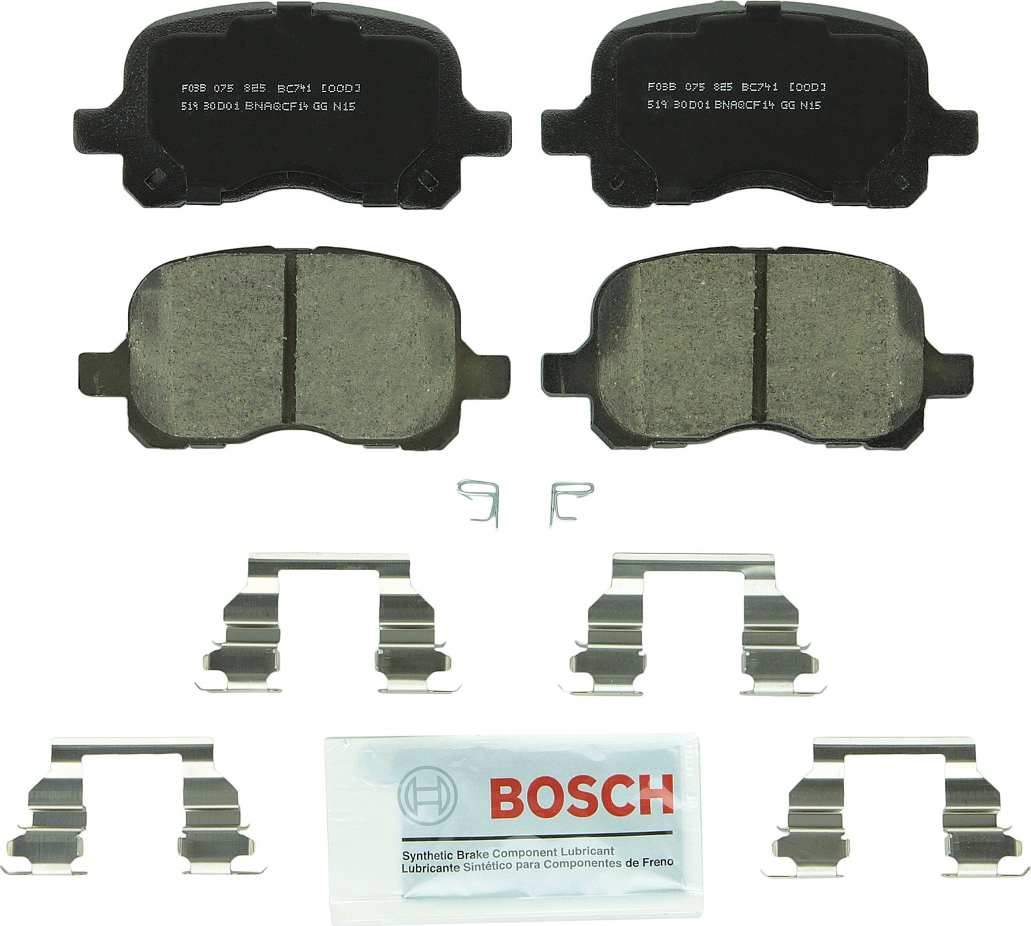 Bosch BC741 QuietCast Brake Pad Set