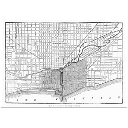 Amazon Com Great Big Canvas Poster Print Entitled Chicago Fire Map