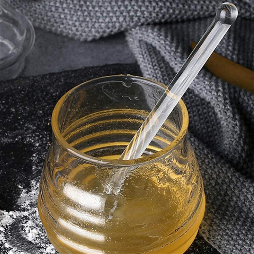"""Stainless Steel Handle Spoon Syrup Dip Server 6/"""" Long Silicone Honey Dipper"""
