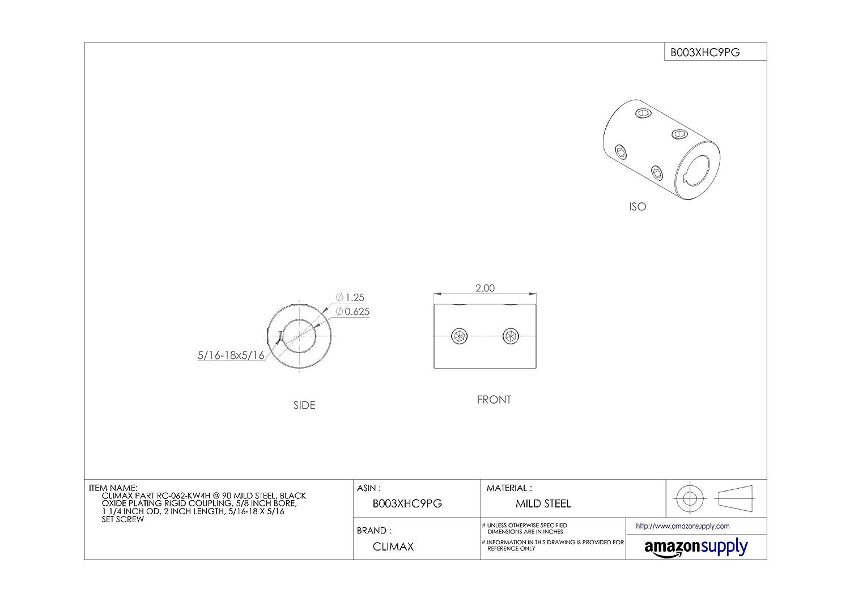 Amazon.com: Climax parte rc-062-kw4h @ 90 Acero dulce, color ...