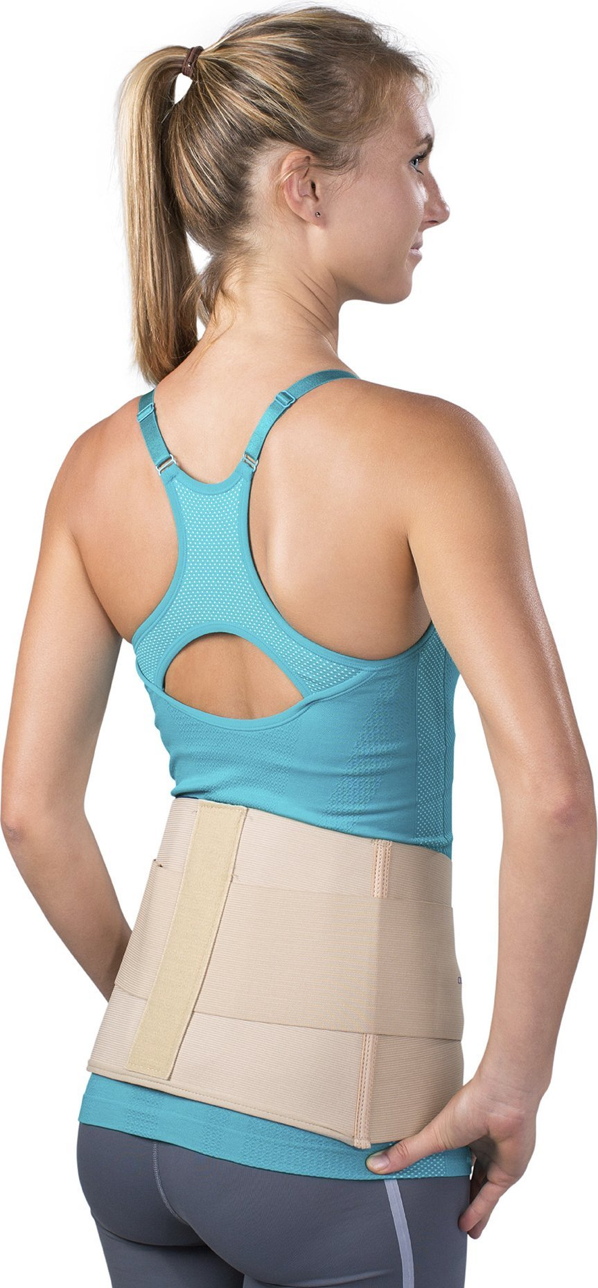 DonJoy Elastic Wrap-Around Lumbar Back Support Brace, Large (Waist: 36'' - 42'') by DonJoy