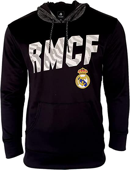 HKY Real Madrid Hoodie Jacket Fleece Navy Adults Official Licensed New Season /& Sticker