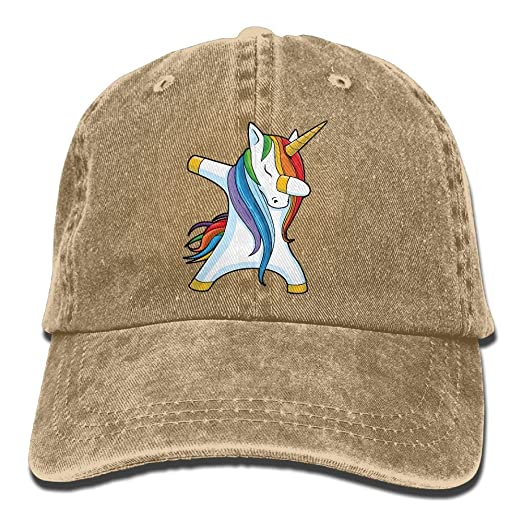 d9dbd059b24 Image Unavailable. Image not available for. Color  Men Women Dabbing  Unicorn Denim Jeanet Baseball Hat Adjustable ...