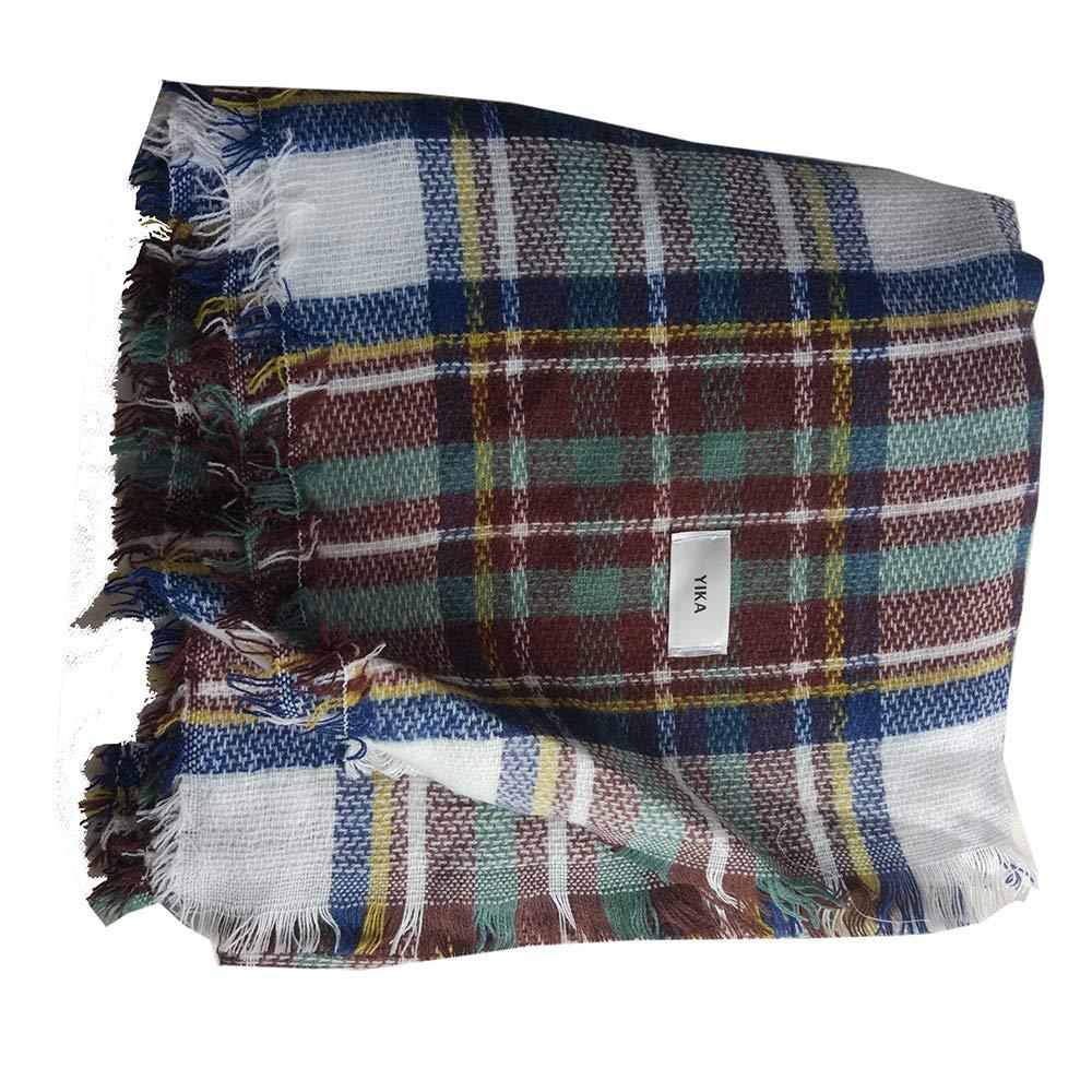 YIKA Female soft classic luxury elegant carpet lattice scarf