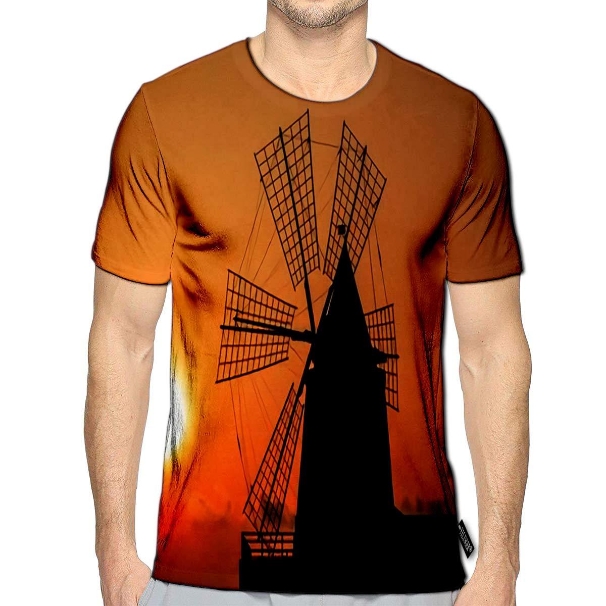 Performance T-Shirt,Heart Shaped Dandelions Fashion Personality Customization