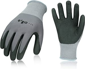 Vgo 10Pairs Super Light Micro Foam Nitrile Coating Gardening and Work Gloves (Size XL,Grey,NT5148)